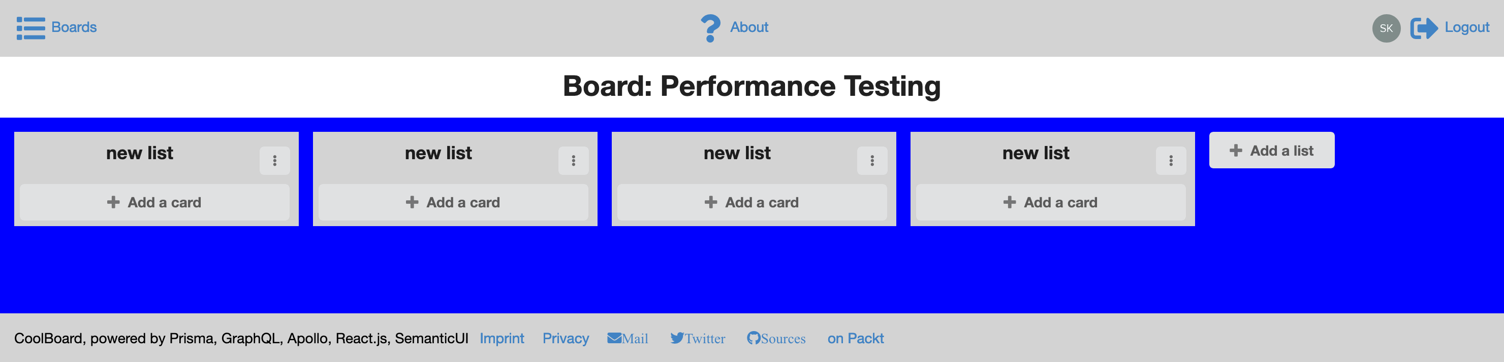 loading board page - first part